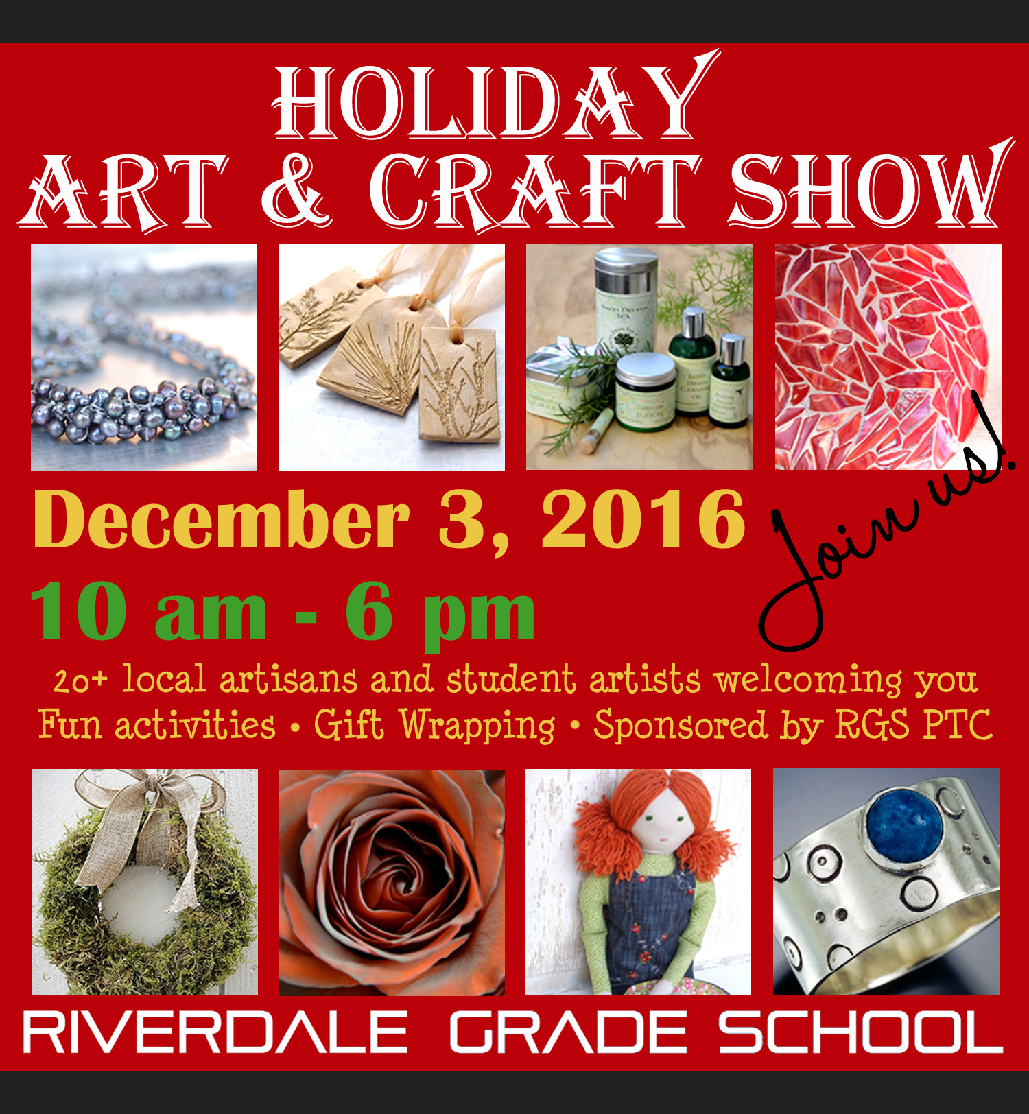 Holiday Art & Craft Show at Riverdale Grade School